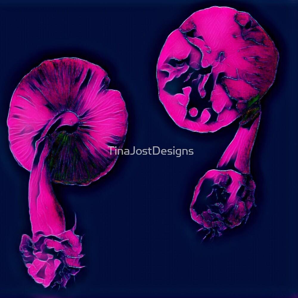 Mushrooms  by TinaJostDesigns