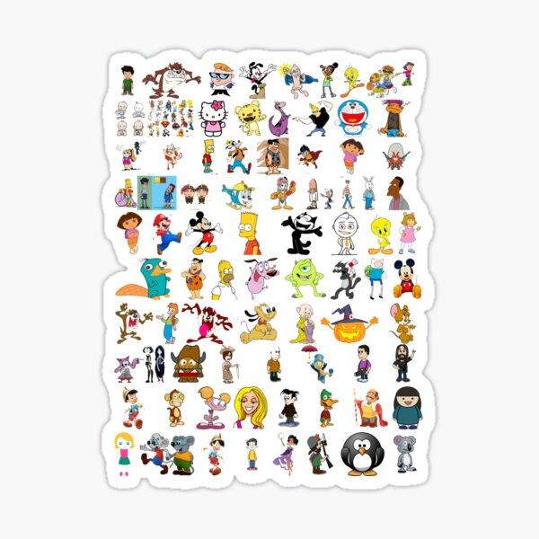 Cartoon Characters Sticker