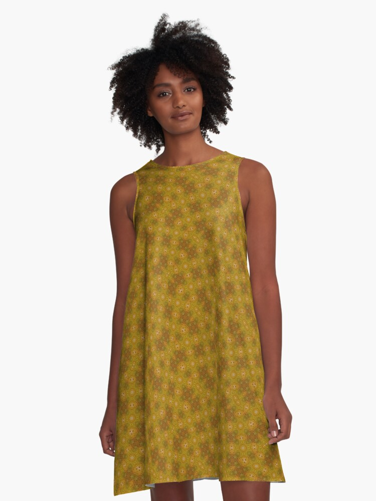 Water Yella A-Line Dress Front