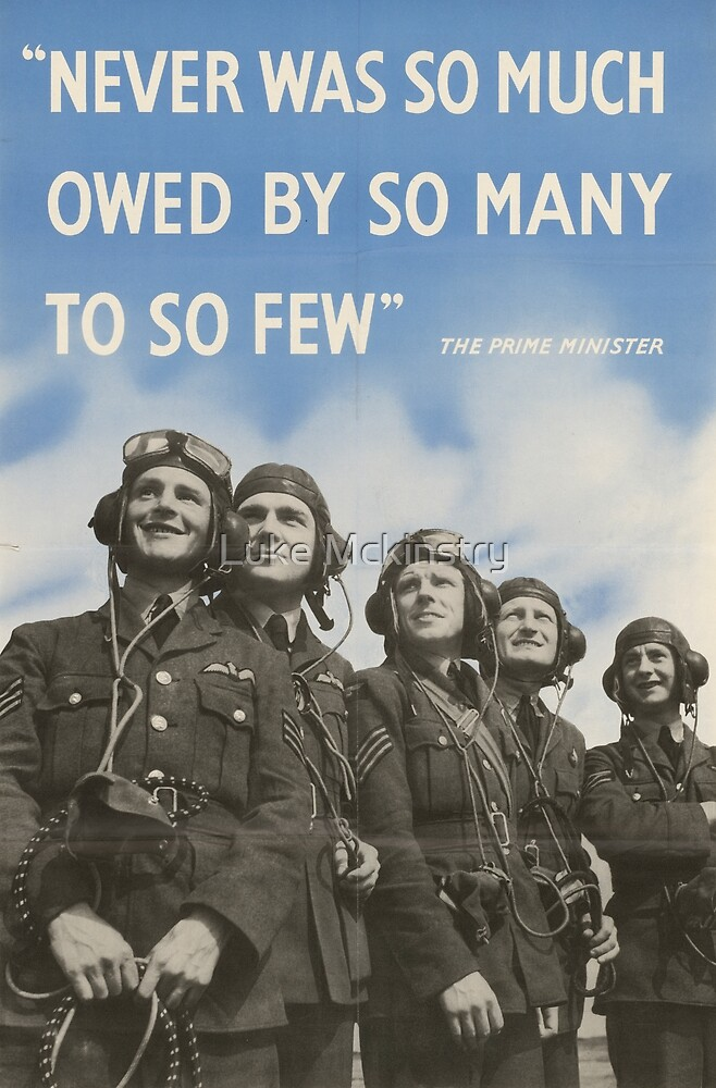 Never Was So Much Owed By So Many to So Few by Luke Mckinstry