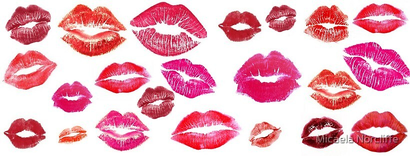Lipstick stains  by Micaela Norcliffe