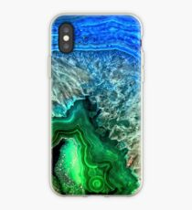 Green and Blue Agate Mineral Gemstone iPhone Case