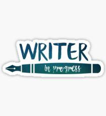 Pegatina Escritor en progreso!
