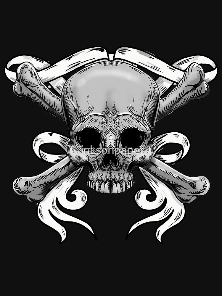 Skull and Cross bones by inksonpaper