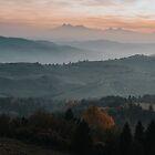 Hazy Mountains - Landscape and Nature Photography by ewkaphoto