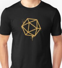 D20 Dice Dungeon Master Spray Paint Bronze DnD Unisex T-Shirt