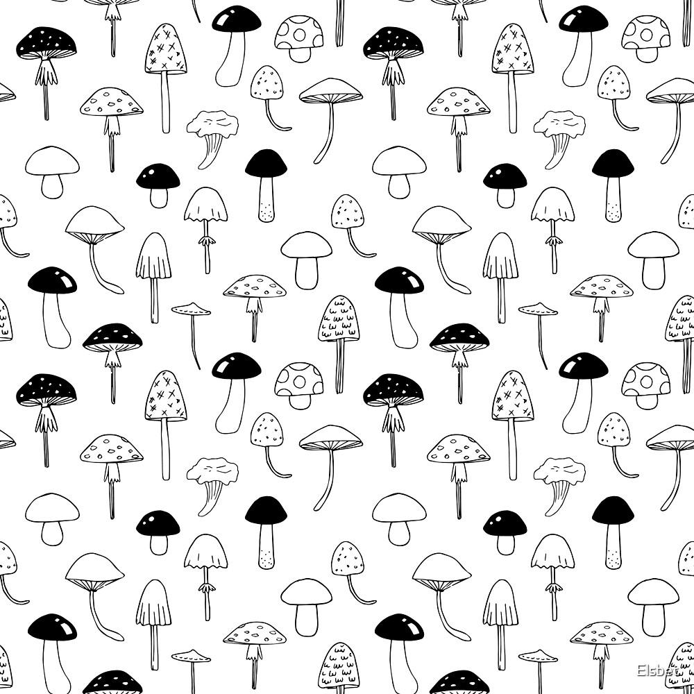 Magic Mushrooms by Elsbet