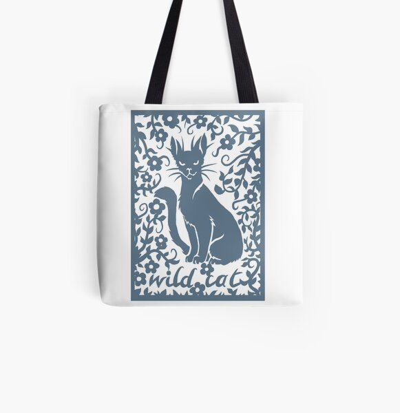 Wild cat All Over Print Tote Bag