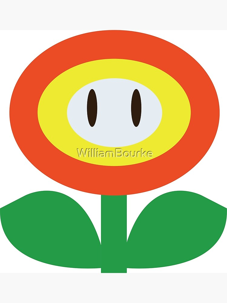 Fire Flower Mario Greeting Card