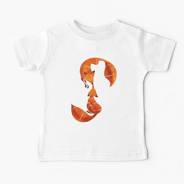 Kissing foxes Baby T-Shirt