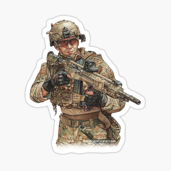 Reflection Soldier Sticker