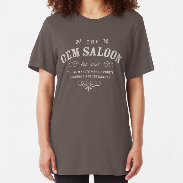 The Gem Saloon, Deadwood Slim Fit T-Shirt