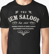 The Gem Saloon, Deadwood Graphic T-Shirt