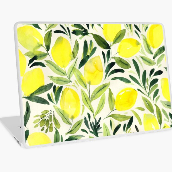 Zitronen Aquarell Laptop Folie