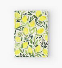Lemons watercolor on creme white Hardcover Journal