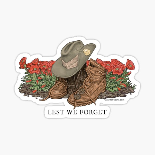 Lest we Forget Print Sticker