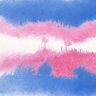 Trans Pride Flag in Watercolor by thedelicion