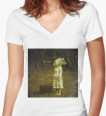 An unknown destination Women's Fitted V-Neck T-Shirt
