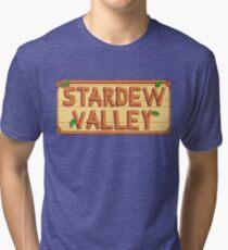 Stardew Valley - wooden logo Tri-blend T-Shirt