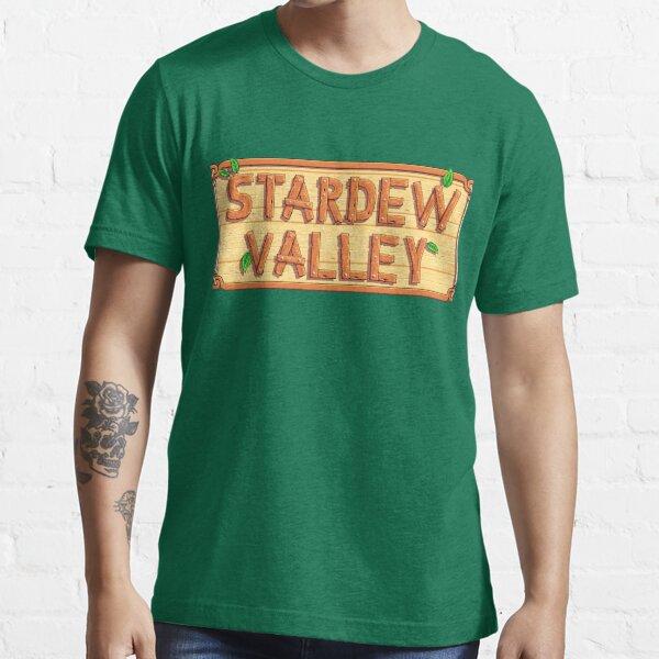 Stardew Valley - wooden logo Camiseta esencial