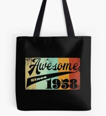 60th Birthday Retro Design - Awesome Since 1958  Tote Bag
