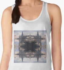 Fantastic air castle with elements of steampunk subculture Women's Tank Top