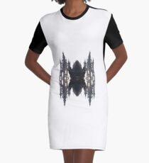Fantastic air castle with elements of steampunk subculture Graphic T-Shirt Dress