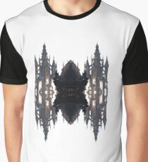 Fantastic air castle with elements of steampunk subculture Graphic T-Shirt