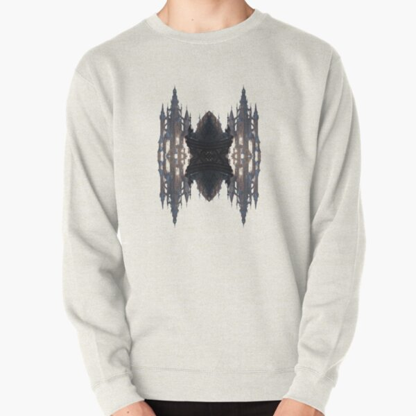 Fantastic air castle with elements of steampunk subculture Pullover Sweatshirt