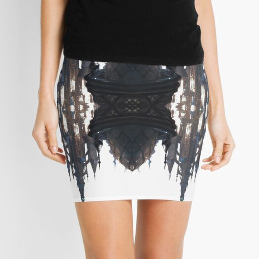 Fantastic air castle with elements of steampunk subculture Mini Skirt