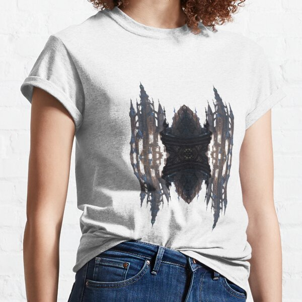 Fantastic air castle with elements of steampunk subculture Classic T-Shirt
