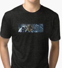 Gold Bitcoin Tri-blend T-Shirt