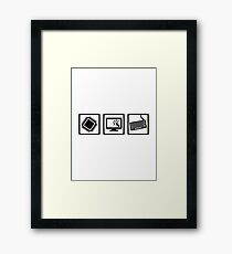 Programmer equipment Framed Print