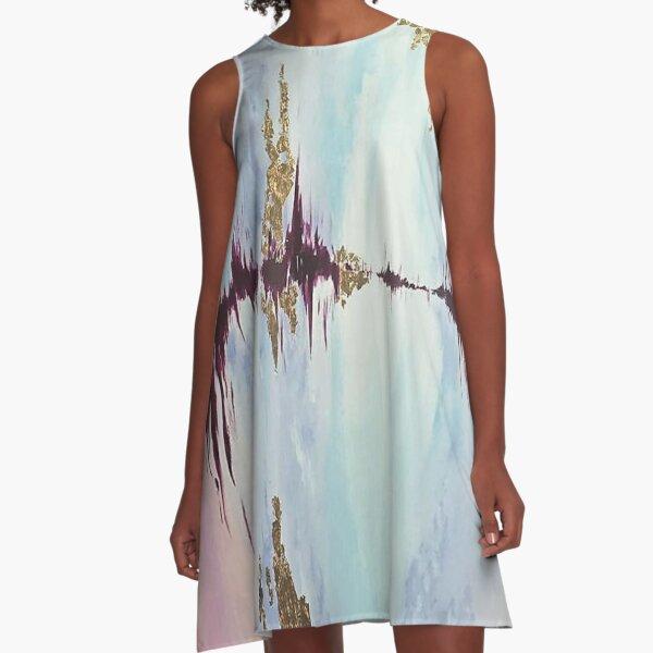 Pastell A-Linien Kleid