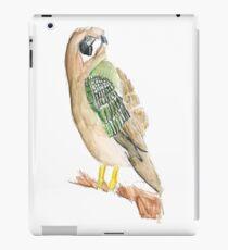 Brown & Green Bird iPad Case/Skin