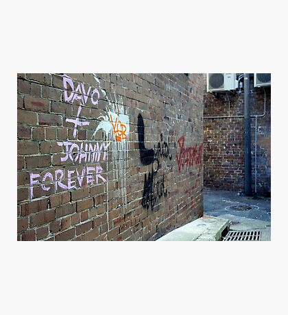 Davo and Johnny Forever Photographic Print