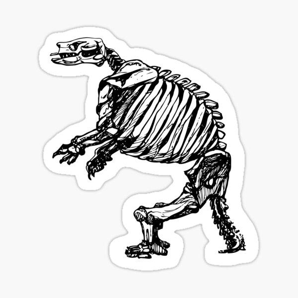 Giant ground sloth skeleton Sticker