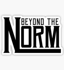 Beyond The Norm - Black Sticker