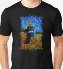 Mrs Poppins with Phone Box at rose fields Unisex T-Shirt