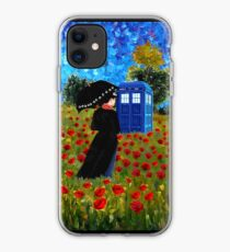 Mrs Poppins with Phone Box at rose fields iPhone Case