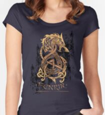 f3ff3169 Fenrir: The Nordic Monster Wolf Fitted Scoop T-Shirt