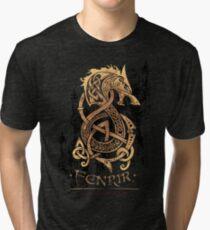 Fenrir: The Nordic Monster Wolf Tri-blend T-Shirt