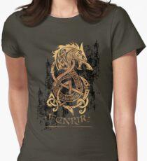 Camiseta entallada para mujer Fenrir: El lobo del monstruo nórdico