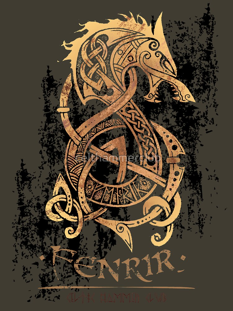 Fenrir: The Nordic Monster Wolf by celthammerclub