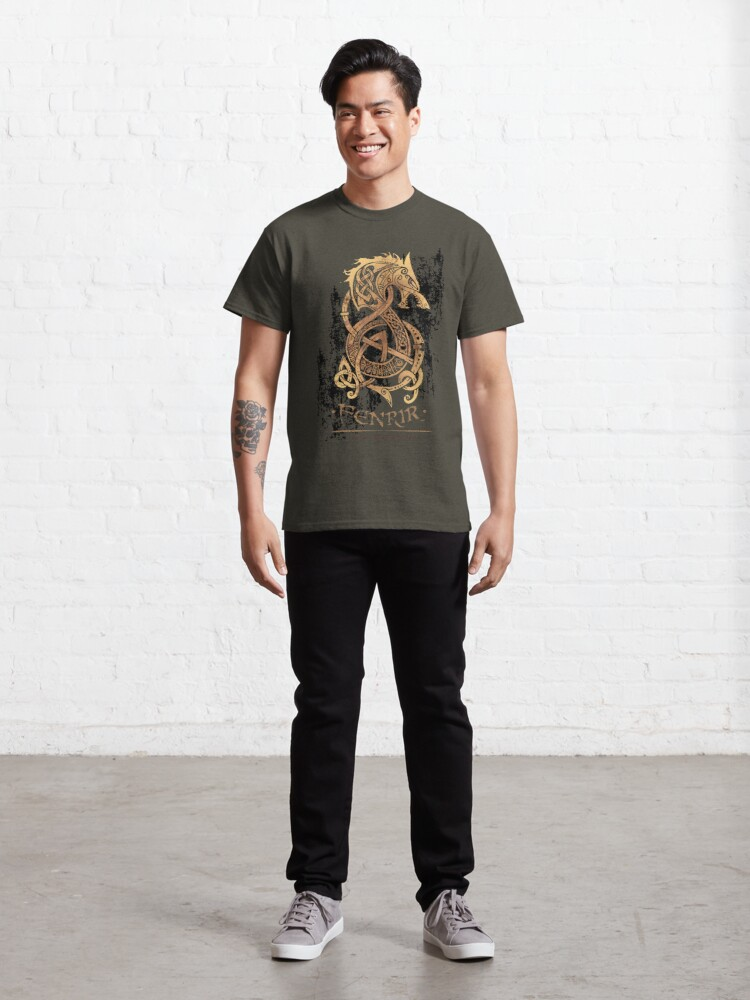 Alternate view of Fenrir: The Nordic Monster Wolf Classic T-Shirt
