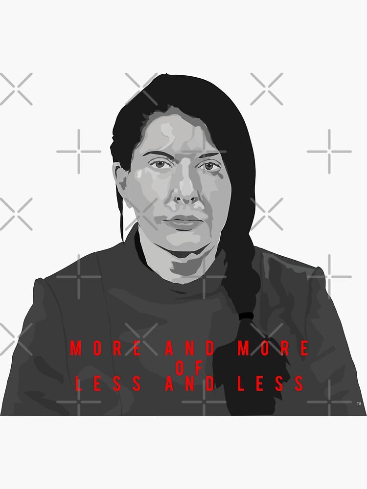Marina Abramovic - more and more less and less by mayerarts