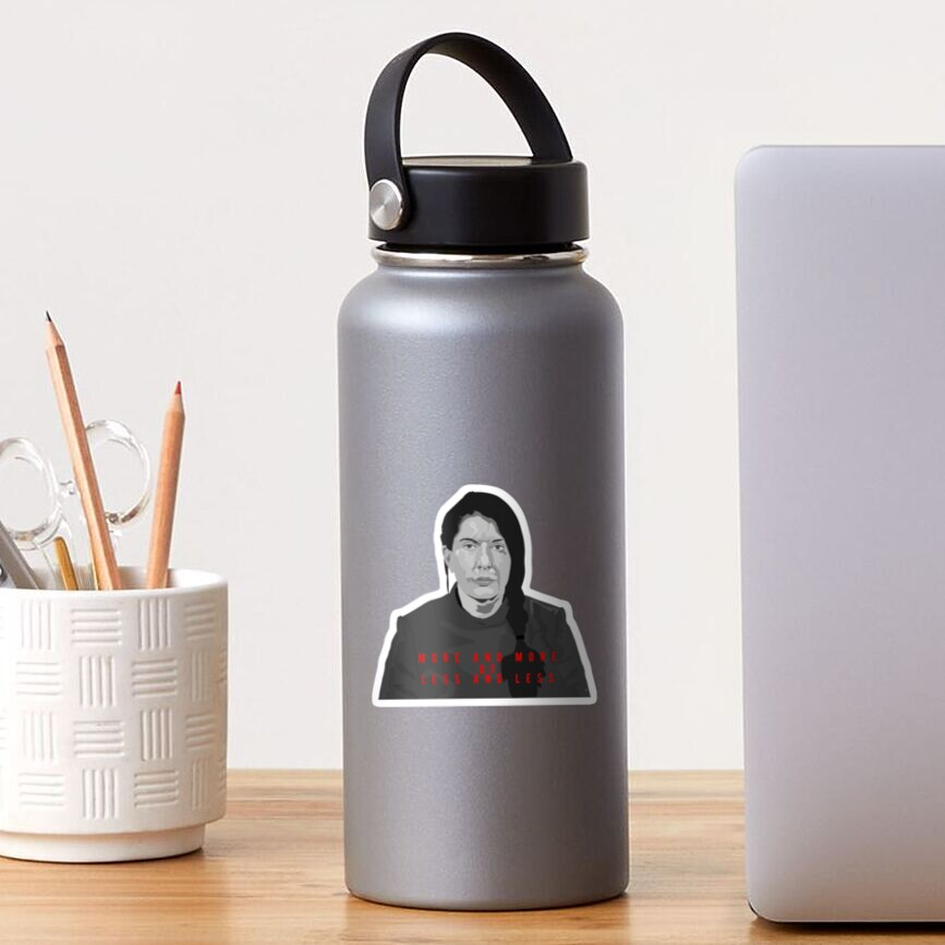 Marina Abramovic - more and more less and less Sticker