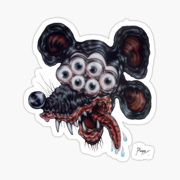 Freaky Mouse Sticker