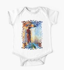Beautiful Mrs Poppins with an Umbrella abstract One Piece - Short Sleeve