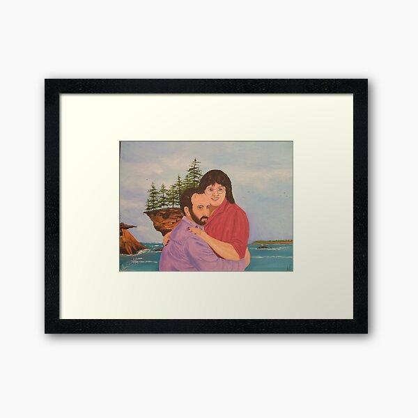 Craig an Darlene Framed Art Print